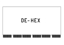 DE-HEX - DEC compatible